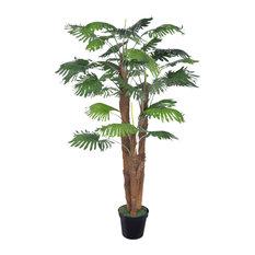 VidaXL Artificial Fan Palm Tree With Pot, 180 cm