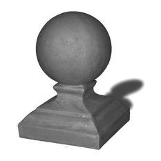 Round Cap Finial, Charcoal, 10x10x17