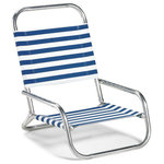 Telescope Casual Furniture - Sun and Sand Folding Arm Chair, Various, Blue/White Stripe - This Chair is 100% designed, manufactured, and assembled in the USA.