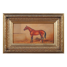 Stabled Horse Oil Painting