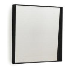 Andrea Black Square Wall Mirror, 50x50 cm