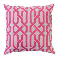 Saint Tropez Cotton Cushion Cover, Berry Pink