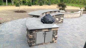 Semi Circle Outdoor BBQ Kitchen Project