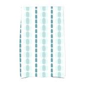 Watercolor Stripe, Stripe Print Hand Towel, Teal