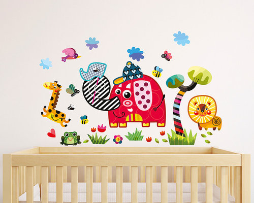 Nursery wall stickers by witty doodle