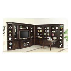 Stanford Library Peninsula Desk Entertainment Wall Unit