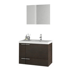 "31"" Wenge Bathroom Vanity Set"