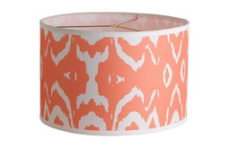 Young House Love Two-Tone Ikat Drum Shade, Coral Pink