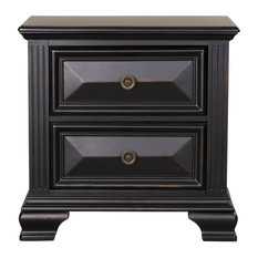 Emma Mason Signature Saunders 2-Drawer Nightstand In Vintage Black