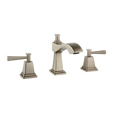 Plaza Widespread Faucet Handles and Drain, Brushed Nickel