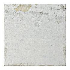 """7.88""""x7.88"""" Aeon Ceramic Wall Tile, White"""