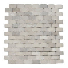 "11""x12"" 3D Arch Tan Stone Tile"