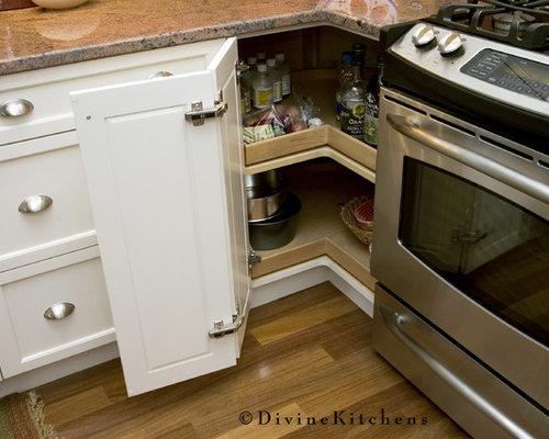 lazy susan for kitchen cabinet lazy susan corner cabinets houzz 22548