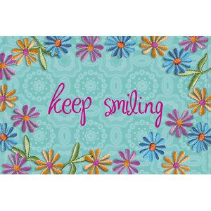 """""""Keep Smiling"""" Gallery Door Mat, Small"""