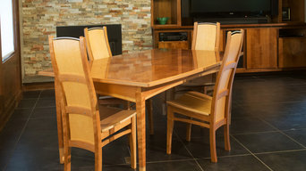 Sapele and Bird's Eye Maple Dining Set