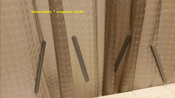 Shower curtain weights - magnetic sticks version 1.0