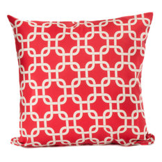 Indoor/Outdoor Links Throw Pillow, Red