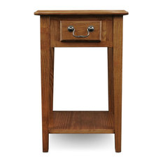 Anzy   Durable Square End Table, Medium Oak, Medium Oak   Side Tables And