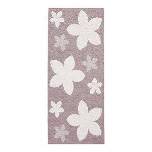 Flower Woven Vinyl Floor Cloth, Pink, 150x250 cm