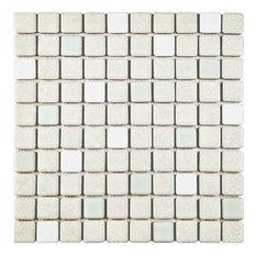 """11.75""""x11.75"""" Scholar Porcelain Mosaic Floor/Wall Tile, Pistachio"""