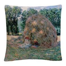 "Monet 'Haystacks' 16""x16"" Decorative Throw Pillow"