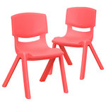 """Flash Furniture - Flash Furniture Stackable Kids School Chair with 12"""" Seat Height, 2 Pack - Red - Description:"""