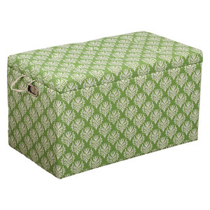 Cloth Storage Ottoman And Stool 3 Ottomans, 2 Stools Victorian Green And  White By Imzi