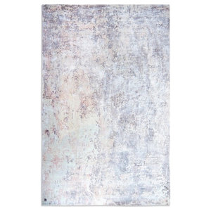 Impressions Rectangular Funky Rug, Off White and Violet, 150x230 cm
