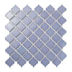 "12.38""x12.5"" Antaeus Mosaic Floor/Wall Tiles, Set of 10, Lavender"