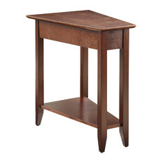 Convenience Concepts   American Heritage Wedge End Table, Espresso   Side  Tables And End Tables