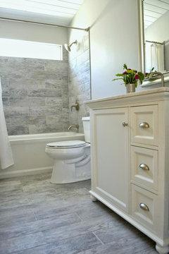 bathroom renovation--tile direction for bath tub wall and