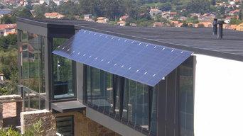 Alero fotovoltaico en vivienda unifamiliar