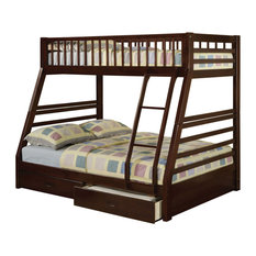 Acme Furniture - Jason Bunk Bed With 2 Drawers, Espresso, Twin Over Full -
