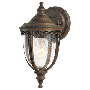 English Bridle 1-Light Wall Lantern, British Bronze