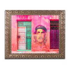 'Che On The Wall Havana' Ornate Framed Art, 20x16