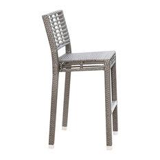 Panama Jack Graphite Stackable Bar Stools, Set of 2, Without Cushion