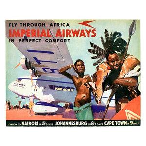 """HONG KONG 8.5/"""" X 11/""""  Travel Poster  - Pan American Air Lines"""
