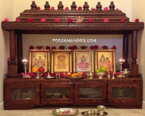How To Decorate Home Mandir Contemporary Pooja Mandir Home Design Ideas  Pictures