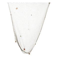Beachcombers Nautical Decorative Fish Net w/ Shells & Cork