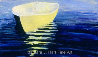 Yellow Boat in Calm Water by Barbara J. Hart