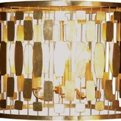 Leona Gold Silver Leaf Chandelier by Worlds Away