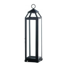 Gallery of Light - Extra Large Lean and Sleek Candle Lantern - Candleholders