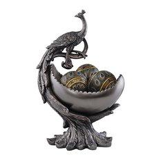 Peacock's Bounty Centerpiece Sculptural Bowl