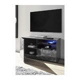 Prisma (grey) 1 door 1 drawer TV unit