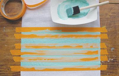 DIY: Streifen für alle! Ein Küchenhandtuch bekommt Farbe
