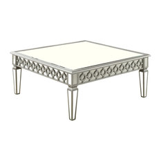 Sophie Silver Mirrored Square Coffee Table