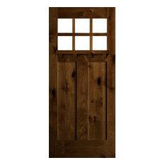 "Knotty Alder Craftsman Door, 36""x96""x1.75"", R-Hand, Provincial"