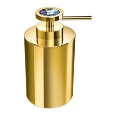 Moonlight Round Gold Soap Dispenser With Swarovski Crystals