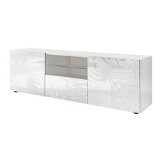 Miro Decorative TV Unit, 181 cm, White Gloss
