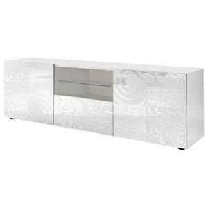 Miro Decorative TV Unit, 181 cm, White Gloss